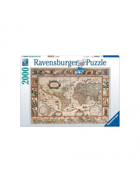 Rompecabezas Puzzle Ravensburger 2000 Piezas Mapa 1650