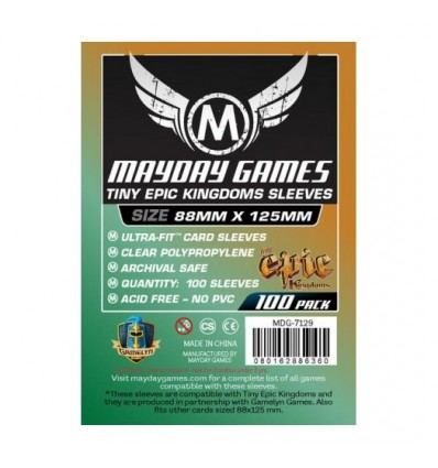100 Protectores Mayday Games Tiny Epic Kingdoms (88x125)
