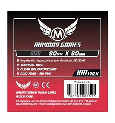 100 Protectores Mayday Games Square (80x80)