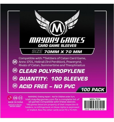 100 Protectores Mayday Games Square mini (70x70)