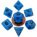7 -Die Set Glow: 10mm Blue/Black