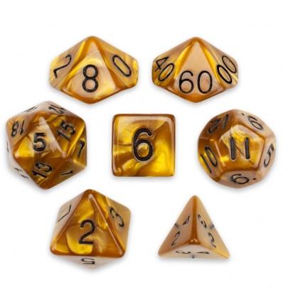 Set de 7 dados - Mountainheart - Marmolado Caramelo