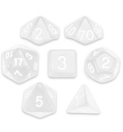 Set de 7 dados - Astral Echoes - Transparente