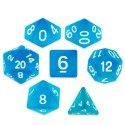 Set de 7 dados - Sea Glass - Turqueza Hielo