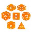 Set de 7 dados - Forge Embers - Naranja Hielo