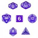 Set de 7 dados - Translucent Purple - Transparente Violeta