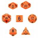 Set de 7 dados - Solid Orange - Opaco Naranja