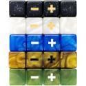 Set 4 Dados Fudge Azules