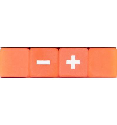 Set 4 Dados Fudge - Mystical Forge-Naranja Hielo