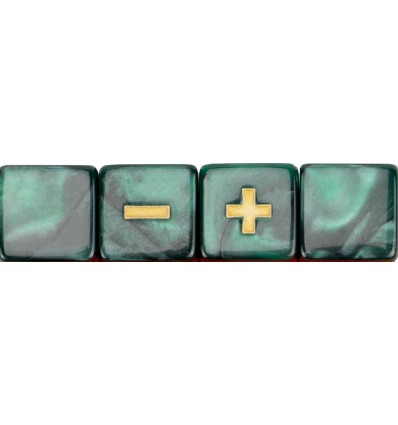 Set 4 Dados Fudge -Mystical Basilisk Blood-Marmolado Verde