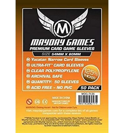 Premium Yucatan Narrow Card Game Sleeves 54 X 80 MM x 50