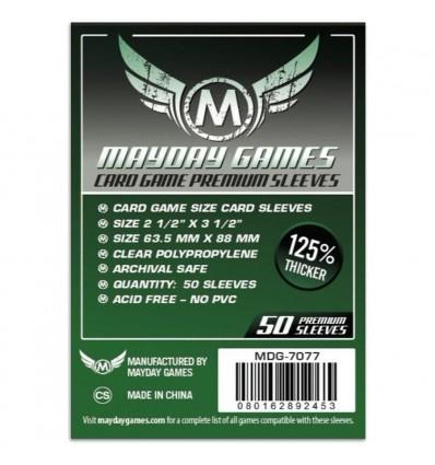 Premium Card Game Sleeves 63.5 X 88 MM (Dark Green) x 50