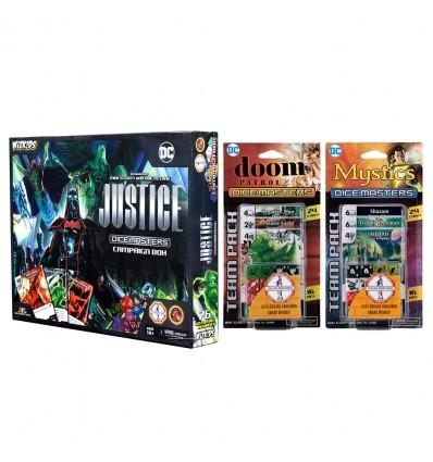 Combo - DC Comics Dice Masters: Justice + Doom Patrol + Mystics - Combo
