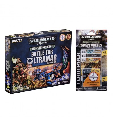 Combo - Warhammer 40.000 Dice Masters: Battle for Ultamar + Space Wolves - Sons of Russ Team Pack - COMBO