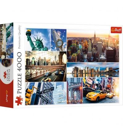 Puzzle Trefl 4000 Piezas Collage de New York