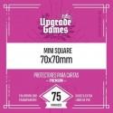 Protectores de cartas Mini Square 70x70 (75u) Sleeves Upgrade Games