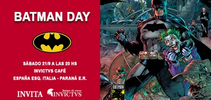 BATMAN DAY en INVICTVS Café